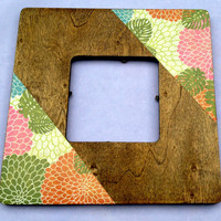 Happy flower square frame