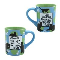 Enesco 4026105 Our Name Is Mud by Lorrie Veasey Women and Cats Mug, 4-1/2-Inch