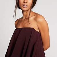 Strapless Dress With Frill