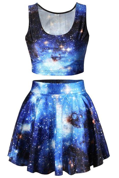 Pink Queen 174 Blue Galaxy Print 2 Piece From Amazon