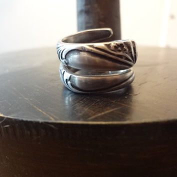 Gorgeous Triple Wrap Spoon Ring Upcycled by farmchicsophisticate