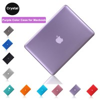 15.4 Laptop Case for Apple Macbook Clear Crystal Case Cover for Apple Macbook 15.4 Pro Retina A1398 A1286 A1707 With Touch Bar
