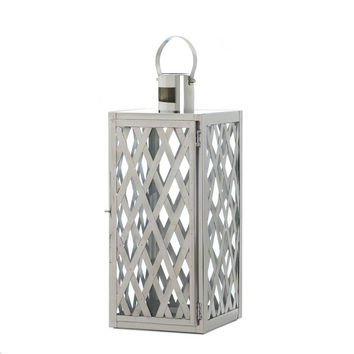 Steel Lattice Medium Candle Lantern