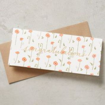 Harland Brooklyn Bouquets Of Congratulations Card in Orange Size: One Size Books