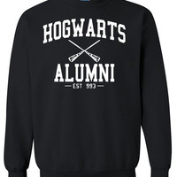 Hogwarts Alumni Harry Potter Crewneck Sweatshirt Clothing Sweater For Unisex Style Funny Sweatshirt x Crewneck x Jumper x Sweater B-057