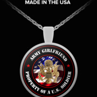 Military - Army Girlfriend - Property of a U.S. Soldier - Necklace