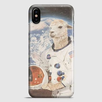 Astronaut Llama Space iPhone X Case