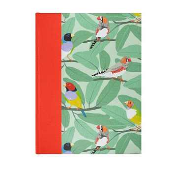 Baby  Keepsake Memory Book Finches