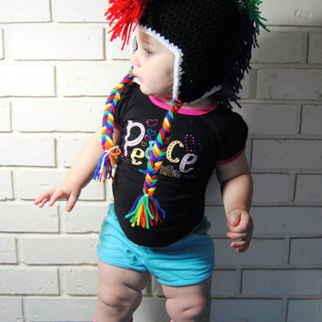 Rainbow Mohawk Crochet Hat, Punk Rock Baby, Toddler Mohawk Hat, Rainbow Baby Hat, Girls Punk Hat, Boys Mohawk Hat, Newborn Photo Prop, Adult