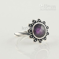 High-quality Women Ring 100% 925 Sterling Silver Crystal Ring European Pandora Charm Style Fashion Jewelry Ring