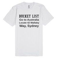 Australian Bucket LIst-Unisex White T-Shirt