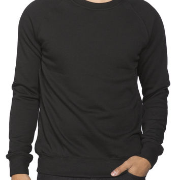 Guys Raglan Crew Fleece Top