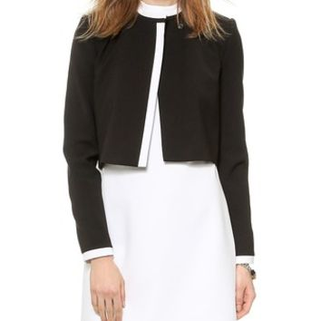 alice + olivia Mock Neck Cropped Jacket