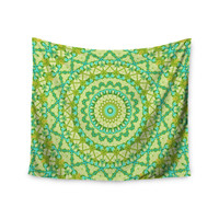 "Iris Lehnhardt ""Aquatic Garden"" Green Wall Tapestry"