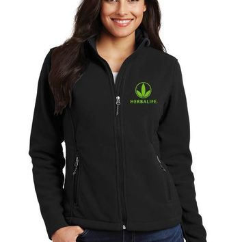 Herbalife 1/4 zip ladies Fleece Jacket-Trileaf