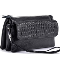 Easy Carry Leather Shoulder Wallet Women Purses Clutch Bags