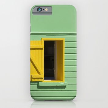 Yellow Window, Green Wall iPhone & iPod Case by Cinema4design
