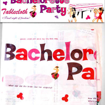 Bachelorette Party Table Cloth Wtrivia Game amp 4 Markers