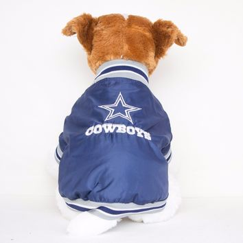 Dallas Cowboys Embroidered Dog Coat Team Jacket NFL Football Licensed Product