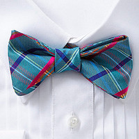 Ted Baker London Happy Plaid Silk Bow Tie