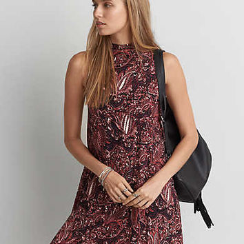 AEO Soft & Sexy Mock Neck Shift Dress, Multi