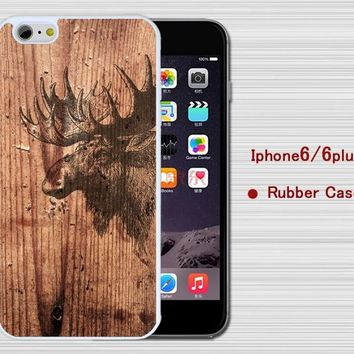 Moose iPhone 6 Case,Wood grain Rubber case cover for iPhone 5/5C/5S Case, Iphone 6/6S case, Iphone6/6SPlus Case,Samsung Galaxy S