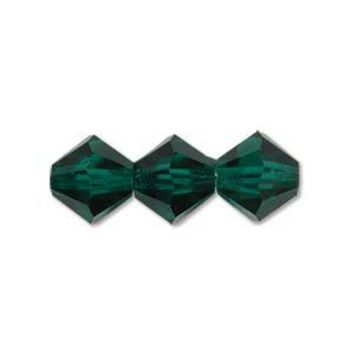 MC30204EM - 4mm Preciosa Bicone Crystal Beads,  Emerald | Pkg 144