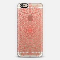 BOHO CORAL MANDALA - CRYSTAL CLEAR PHONE CASE iPhone 6 case by Nika Martinez | Casetify