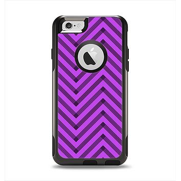 The Purple & Black Sketch Chevron Apple iPhone 6 Otterbox Commuter Case Skin Set