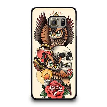 OWL STEAMPUNK ILLUMINATI TATTOO Samsung Galaxy S6 Edge Plus Case Cover