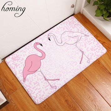 Autumn Fall welcome door mat doormat Homing Dustproof Welcome Home Entrance s Pink Double Flamingo Pattern Carpets Anti Slip Waterproof Bathroom Rugs Decor AT_76_7