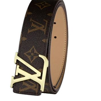 Hot LV Brown  Monogram Leather Belt Fashion Accessories