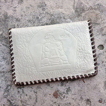 Vintage white Leather Wallet, tooled leather, Vintage, Bags and Purses, Wallet, men, men Wallet, Coin Purse, MyWealth