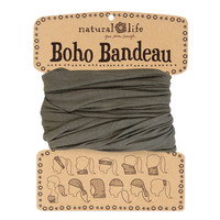 Boho Bandeaus in Solid Olive by natural life
