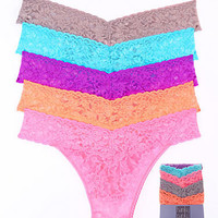 Hanky Panky Signature Lace Low Rise Thong 5-Pack Panty 4911F at BareNecessities.com