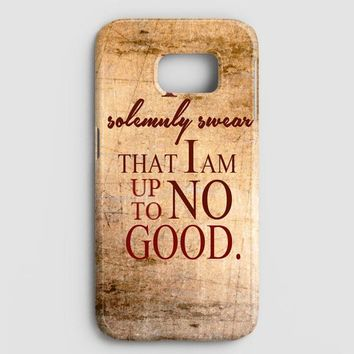 Harry Potter Quote  I Solemnly Swear That I Am Up To No Good Samsung Galaxy Note 8 Case