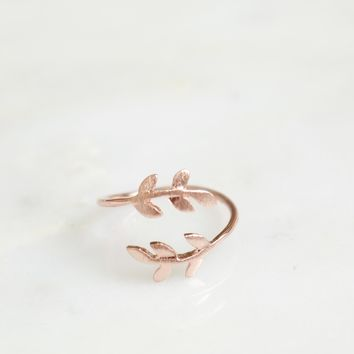 Leaf Wrap Ring Rose Gold