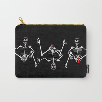 White Skeleton Male Carry-All Pouch by Zia