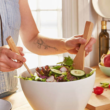 Modern Salad Bowl Serving Set - Urban Outfitters