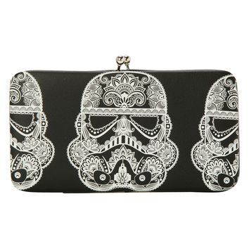 Star Wars Day Of The Dead Stormtrooper Kisslock Hinge Wallet