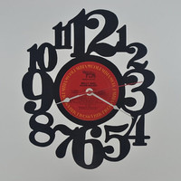 Vinyl Record Clock (artist is Billy Joel)
