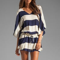 Vix Swimwear Malawi Vintage Tunic in Navy/White from REVOLVEclothing.com