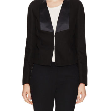See by Chloe Women's Contrast Cotton Twill Jacket - Black -