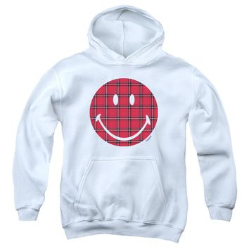 Smiley World - Plaid Face Youth Pull Over Hoodie