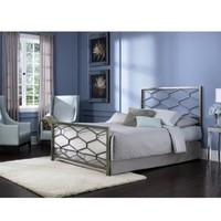 Leggett and Platt Fashion Bed Group Camden Golden Frost Headboard, Full, Silver