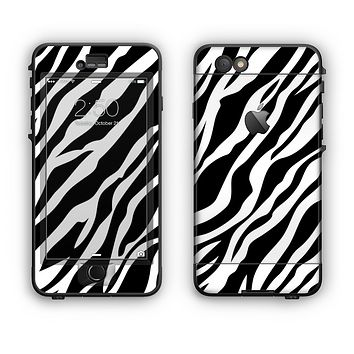 The Simple Vector Zebra Animal Print Apple iPhone 6 LifeProof Nuud Case Skin Set
