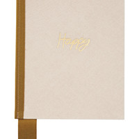 Lanvin - Grosgrain-trimmed canvas notebook