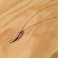 Inner Strength Layering Necklace-Bronze Bear Claw on 14k Gold Filled Chain