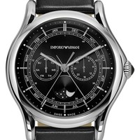 Men's Emporio Armani Swiss Made Moonphase Multifunction Watch, 44mm