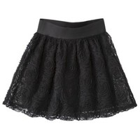 Xhilaration® Juniors Rose Tulle Skirt - Black